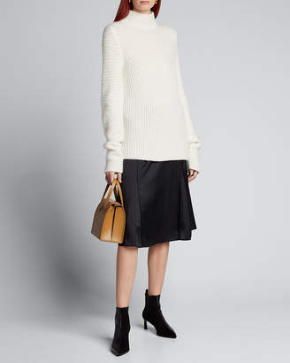 Helmut Lang Ghost High-Neck Ribbed Sweater