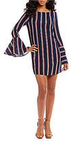 Gianni Bini Carina Bell Sleeve Striped Dress