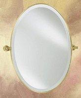 Afina Oval Beveled Wall Mirror with Adjustable Tilt - Radiance (Polished Chrome)