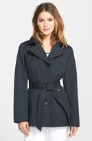 Ellen Tracy Women's Cotton Blend Short Trench Coat