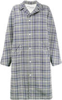 Off-White oversized check coat