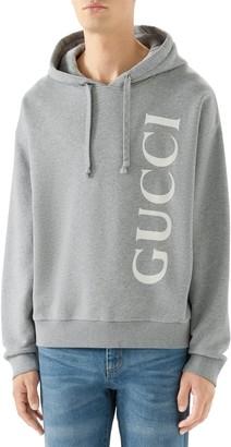 Gucci Vertical Logo Cotton Hoodie