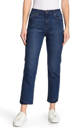 Tractr Straight Leg Cropped Leg Jeans