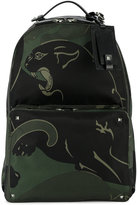 Valentino Garavani Valentino Rockstud panther backpack - men - Leather/Nylon/metal - One Size