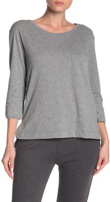 Jason Scott Heathered 3/4 Sleeve Pocket T-Shirt