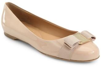 Salvatore Ferragamo Varina Patent Ballet Flats