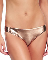 Luxe by Lisa Vogel Square Up Metallic Swim Bottoms
