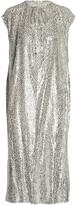 Michael Kors Metallic fil coupé dress