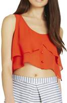 BCBGeneration Flowy Cropped Tank