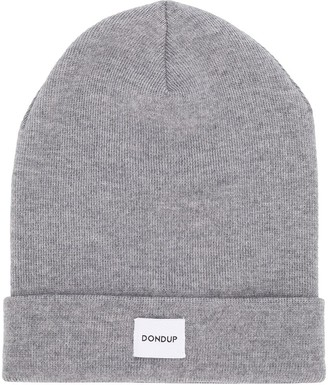 Dondup Kids TEEN ribbed logo patch beanie