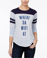 Freeze 24-7 Juniors' Where Da Wifi At Graphic T-Shirt