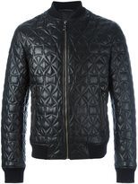 Versace star detail bomber jacket