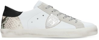 Philippe Model Paris Python Leather Lace-Up Sneakers