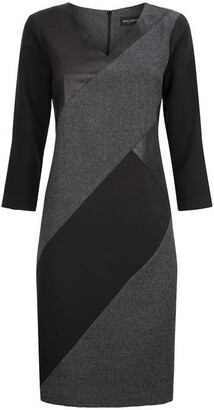James Lakeland V-neck Panel Detail Dress