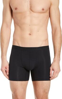 Hanro Stretch Cotton Essentials Long-Leg Boxer Briefs