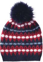 Joe Fresh Kid Girls' Fair Isle Print Hat, Red (Size L/XL)
