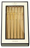 Kate Spade Strike Gold Pen Set/Set of 6