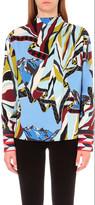 Emilio Pucci Geometric-print stretch-crepe top