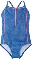 Seafolly Girls' Denim Street Zip Front One Piece Swimsuit (6yrs16yrs) - 8137080