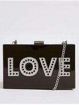 M&S Collection Love Box Clutch Bag