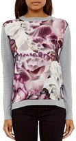 Ted Baker Illuminated Bloom Printed-Front Sweater