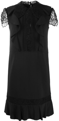 Ermanno Scervino Lace Sleeve Pleated Dress