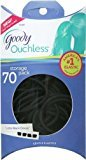 Goody Ouchless Pillow Pack Black Elastics, 4mm, 70 Count - 2 Packs