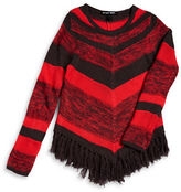 Planet Gold Girls 7-16 Knit Chevron Striped Sweater