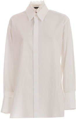Y's Ys Shirt L/s Collar Lace