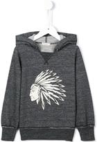 Babe And Tess - American-Indian print hoodie - kids - Cotton/Polyester - 3 yrs