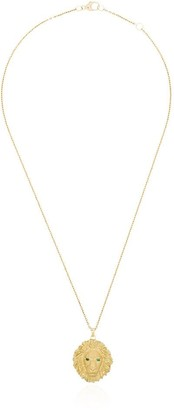 Kimberly Mcdonald 18kt yellow gold lion head necklace