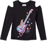 Girls 7-16 SpacePOP Cold Shoulder Glitter Guitar Top