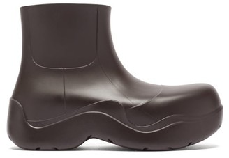 Bottega Veneta Puddle Biodegradable-rubber Ankle Boots - Dark Brown