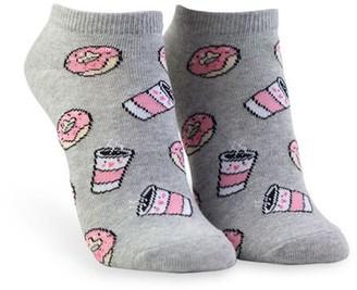 Forever 21 Coffee Doughnut Ankle Socks