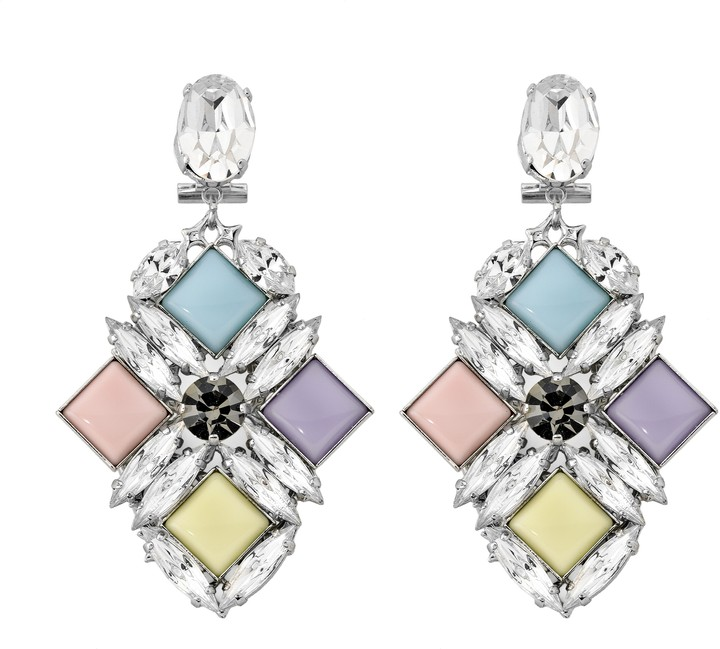 Anton Heunis Large Diamond Shape Pixel Earrings