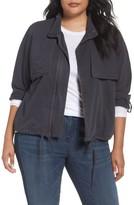 Plus Size Women's Caslon Crop Utility Jacket