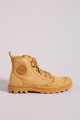 Palladium Pampa Hi Zip Nubuck Leather Boots By in Gold Size 6