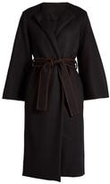 The Row Duna collarless wool-blend coat