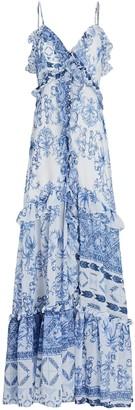 PatBO Amalfi Printed Maxi Dress