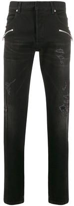 Balmain Zipped Details Slim-Fit Jeans