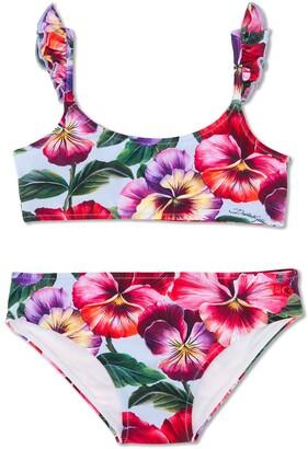 Dolce & Gabbana Kids Floral Bikini
