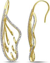 Julie Leah 1/4 CT TW Diamond Yellow-Plated Sterling Silver Geometric Drop Earrings