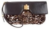 Marc Jacobs Leather & Sequin Clutch