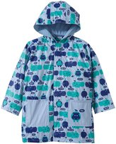 Magnificent Baby Hippo Friends Raincoat (Toddler) - Blue-3T