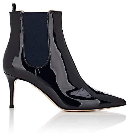 Gianvito Rossi Women's Evan Patent Leather Chelsea Boots