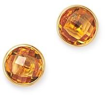 Bloomingdale's Bezel Set Citrine Stud Earrings in 14K Yellow Gold - 100% Exclusive