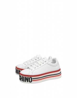 Moschino Platform Sneakers Woman White Size 35