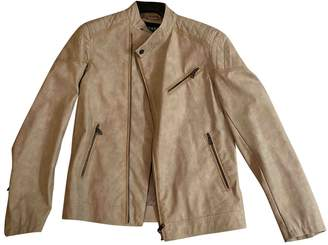 GUESS Beige Leather Jackets