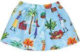 Stella Jean Village Printed Cotton Poplin Skirt