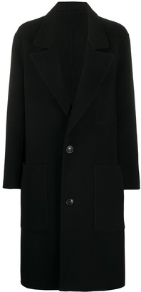 AMI Paris Unstructured Two-Button Coat